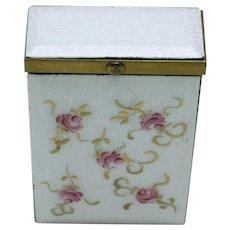 Vintage MARHILL Fifth Avenue Guilloche Flower  Cigarette Case