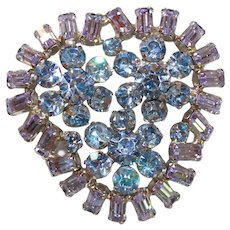 Vintage High Quality ALEXANDRITE Color Changer Brooch Pin