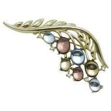 CROWN TRIFARI 1956 Pastel Cabochon Jewels of Fantasy Brooch Pin