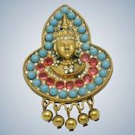 Rare HATTIE CARNEGIE Thai Princess Brooch Pin