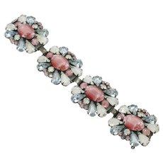 VENDOME Givre Glass Alexandrite Wide Vintage Bracelet