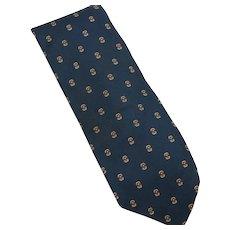 CHRISTIAN DIOR Paris New York 100% Silk Men's Vintage Tie