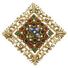 Early Rare CINER Moghul Jewels of India Brooch and Pendant