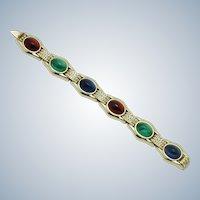 CINER Bracelet Jewels of India Moghul Glass Cabochon Rhinestone