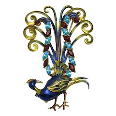 COROCRAFT Preening Bird of Paradise Lyre Bird Patent  1941
