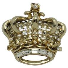 Vintage CORO KATZ  Rhinestone Jubilee Crown 1951