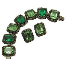 AVON OF BELLEVILLE (Boucher) 1960s Bracelet and Earrings SET