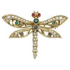 ATWOOD & SAWYER - A&S  1980s Dragonfly Figural Brooch Pin