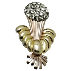 PENNINO STERLING Yellow and Rose Gold Floral Vase Pin