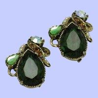 Vintage FLORENZA Pair  Rhinestone Scatter Pins