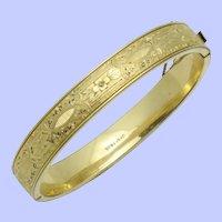 Art Deco Signed FINBERG Bangle Bracelet 12K GF FMCO