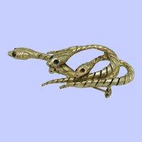 Vintage Art -Arthur Pepper (Unsigned)  Triple Snake  Brooch Pin