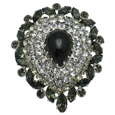 Gorgeous  AUSTRIA High Domed Rhinestone Brooch Pin