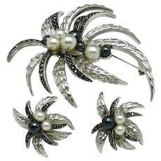 Rare AVON OF BELLEVILLE Boucher Brooch  Earring Set