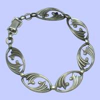 WRE - WE Richards Sterling Silver 925 Swirled Link Bracelet