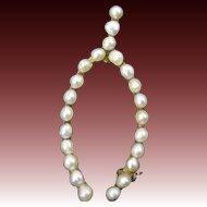 Edwardian Seed Pearl Wishbone Brooch