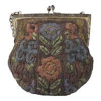 Multicolored Metallic Embroidered Purse