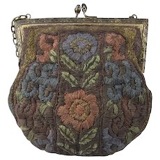 Multicolored Metallic Embroidered Purse