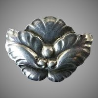 Georg Jensen Flower Brooch No. 107