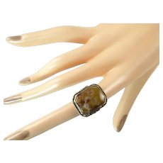 Arts and Crafts Agate Ring