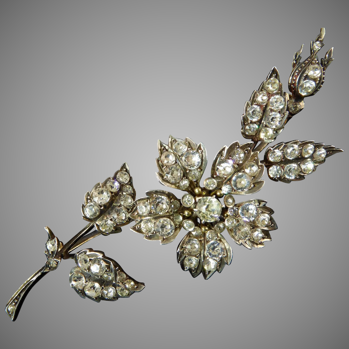 6f3a6c2e0 Sublime French Victorian Paste Spray of Flowers Brooch : Lisa Kramer ...