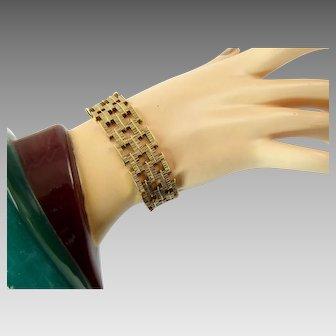 Brutalist 9 Karat Gold Bracelet from 1970
