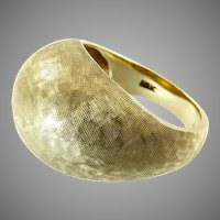 Vintage 10 Karat Gold Cocktail Ring