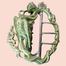 Victorian Buckle with Mythical Creature