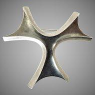 Sigi Pineda Biomorphic Mexican Silver Brooch