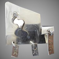 Sam Kramer Modernist Kinetic Brooch