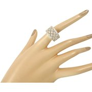 Lacy Diamond and 18 Karat White Gold Ring by Meini Gioielli