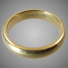 Tiffany 14 Karat Gold Wedding Band
