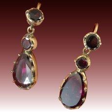 Georgian Garnet Drop Earrings