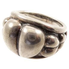 Kieselstein Cord Puffy Heart Silver Ring