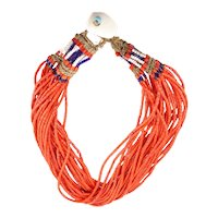 Red Beaded Naga Necklace