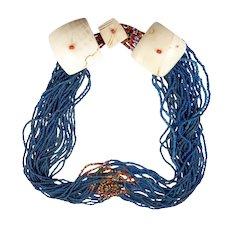 Exceptional Blue Naga Necklace