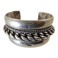 Heavy Bedouin Silver Cuff Bracelet