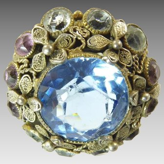 Early Unsigned Hobe Filgree Ring