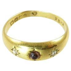 Antique 18 Karat Gold and Diamond Gypsy Ring