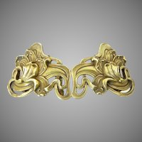 Kerr Art Nouveau Gilt Silver Buckle
