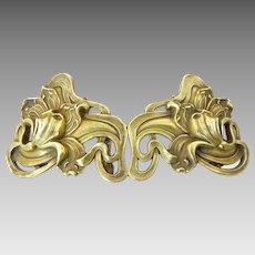 Kerr Art Nouveau Gilt Silver Buckle