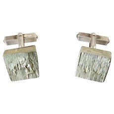 Vintage Pyrite and Silver Cufflinks