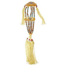 Chinese Tassel with Kingfisher Feather Beads