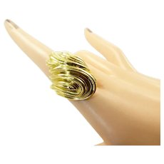 Henry Dunay Double Swirl Ring in 18 Karat Gold