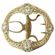 Georgian Silver, Gold, and Paste Buckle