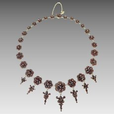 Victorian Garnet Fringe necklace