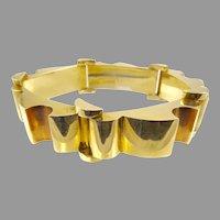Retro 14 Karat Yellow and Rose Gold Bracelet