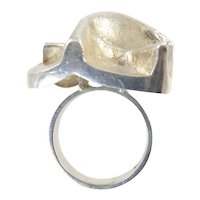Matti Hyvarinen Finnish Modernist Silver Ring
