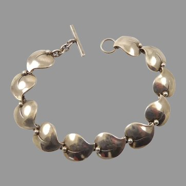 Neils Erik From Sterling Bracelet with Leaves