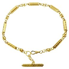 Fancy Link 14 karat Gold Victorian Watch Chain